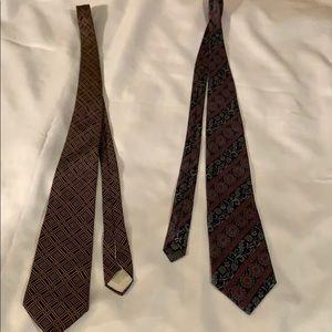 2 Christian Dior ties